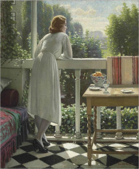 Miss Gladys on the Veranda-Harold-Knight