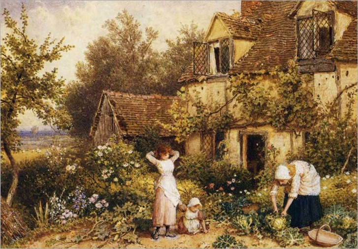 Myles-Birket-Foster_Cottage_Door