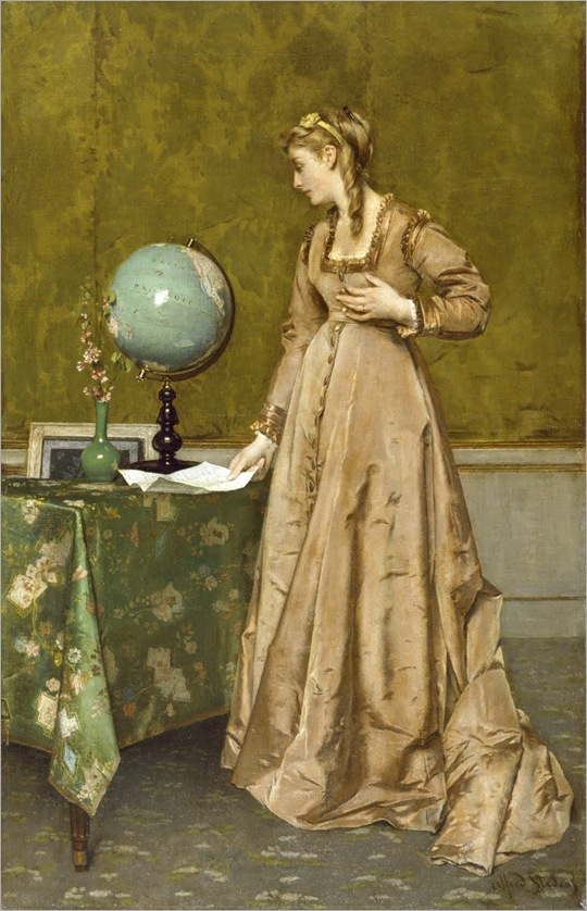 News From Afar by Alfred Stevens, ca 1868