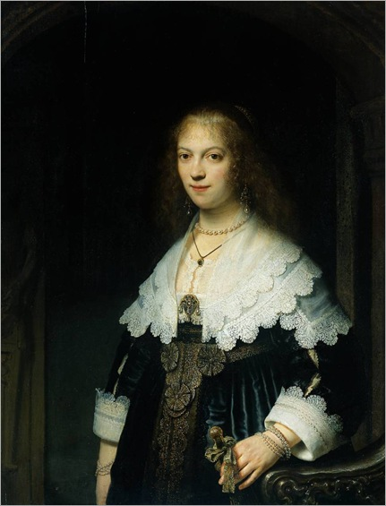 Portrait of Maria Tripp by Rembrandt, 1638