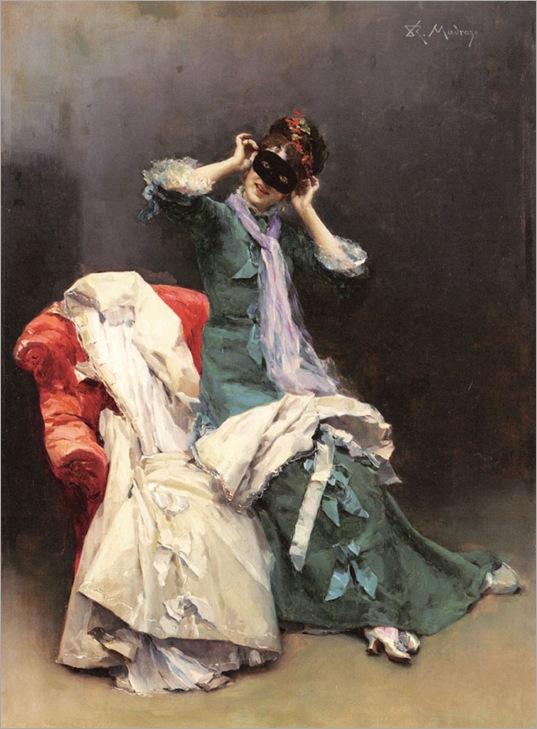 Raimundo de Madrazo Y Garreta (1841-1920) - Preparing for the costume ball