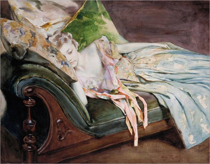 The Green Cushion by Irving Ramsey Wiles