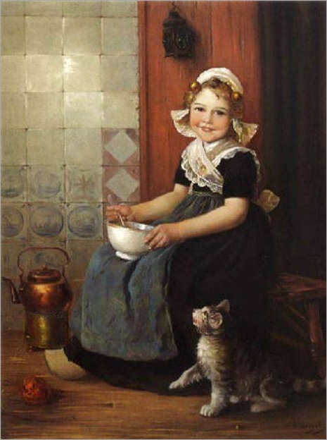 the-little-beggar-by-Edmond Louyot (1861- 1920, French)