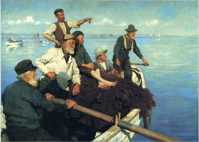 the-seine-boats-Stanhope Alexander Forbes