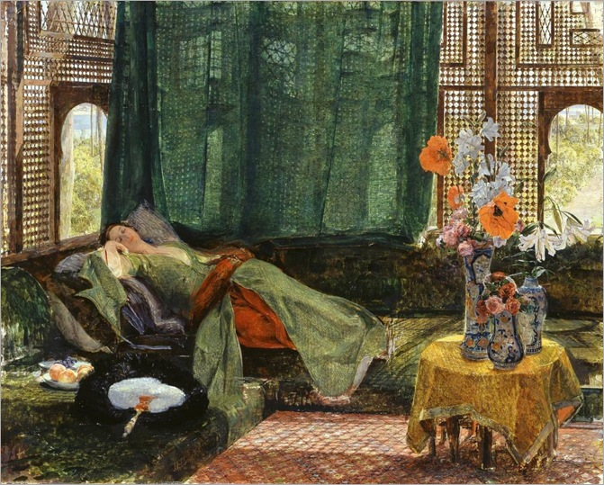 the-siesta-by-John Frederick Lewis, RA - 1876