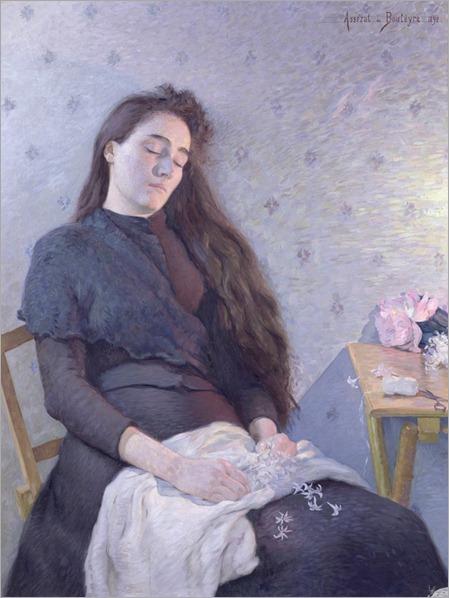 the-sleeping-flower-girl-Eugene-Assezat-de-Bouteyre