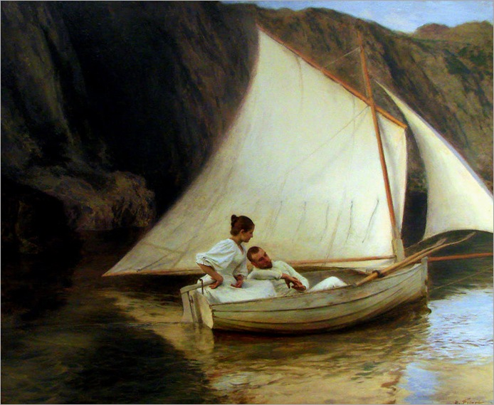 the-small-boat-Émile-Friant