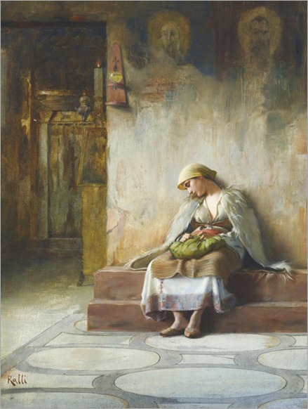 THEODORUS_RALLI_YOUNG GIRL SLEEPING IN A CHURCH_680x900