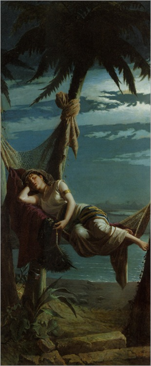 Toniolo_Leopoldo_Beauty_Asleep_In_a_Hammock_1877