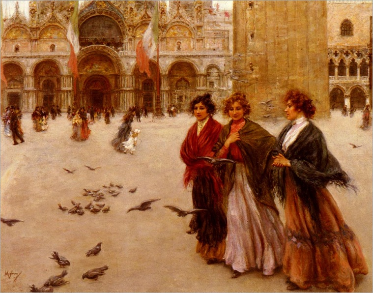 VincenzoMigliaro_the_afternoon_stroll,_st._marks,_venice
