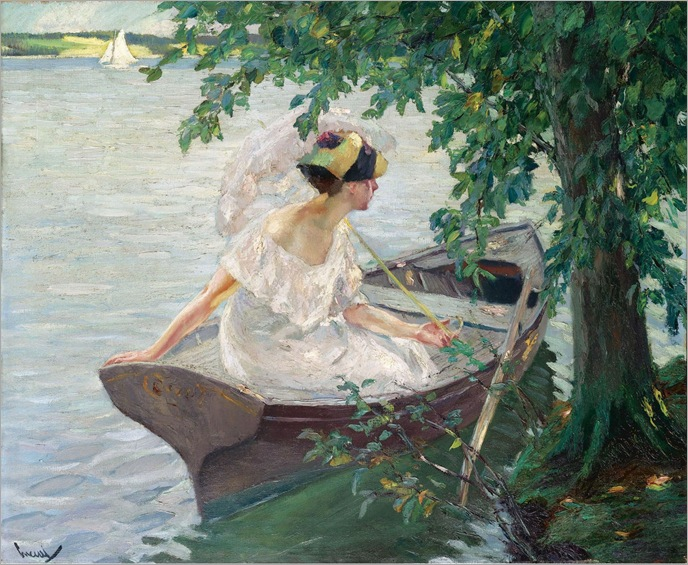 An Outing by Boat-1917 - Edward Cucuel