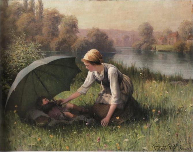 Daniel Ridgway Knight (American, 1839-1924) -Au Grand Soleil