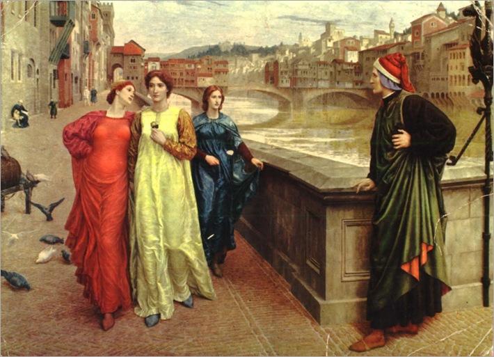 Dante y Beatriz- Henry Holiday