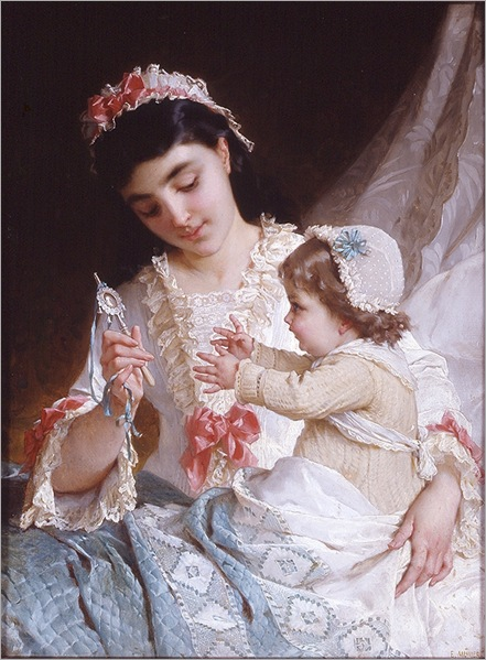distracting-the-baby-emile-munier