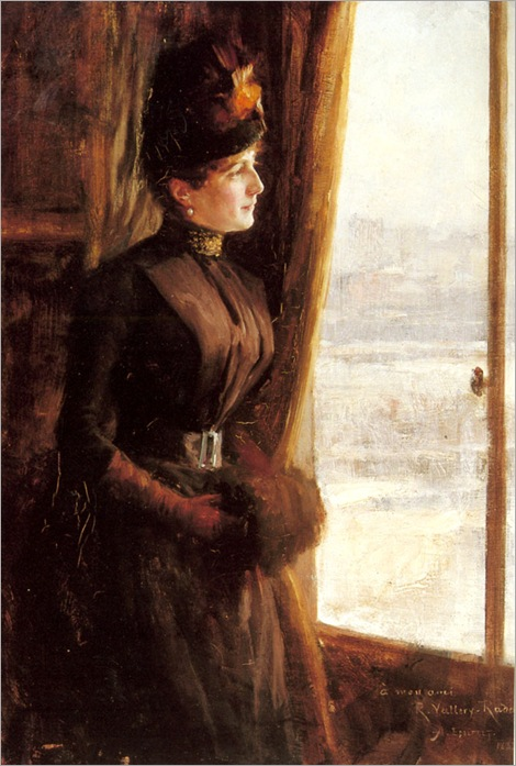 Edelfelt-Albert-A-Portrait-Of-Madame-Vallery-Radot