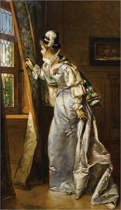Elegant Lady at the Window-Ladilau-Bakalowicz