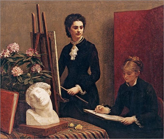 Henri_Fantin-Latour_-_A_Lição_de_Desenho_ou_Retratos,_1879