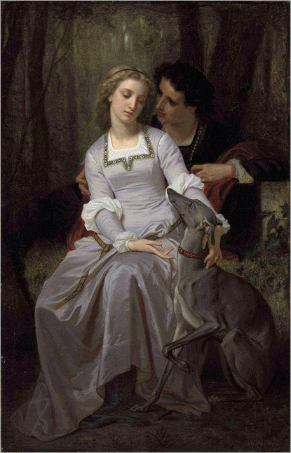 Hugues Merle (French, 1823-1881)-Silent Persuasion-(Romeo and Juliet)