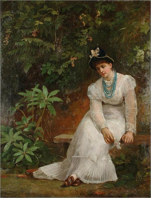 Jerry Barrett (1824 - 1906) - The Love letter, 1877