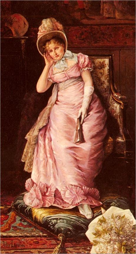 JulieLorain_portrait_of_a_lady_in_pink