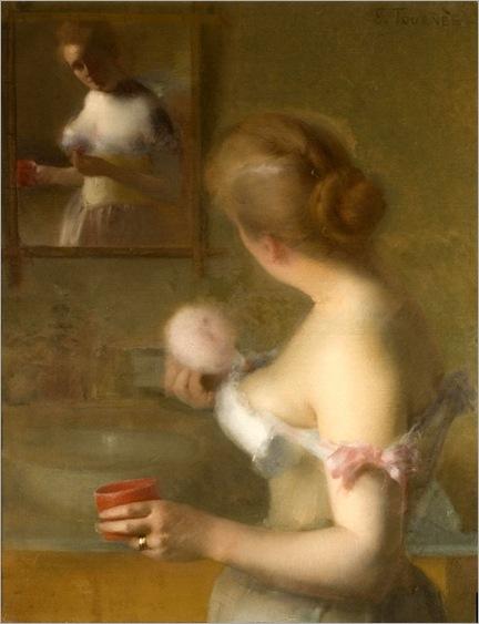 LEON ETIENNE TOURNES (France 1855-1931) La Toilette (c. 1875 )