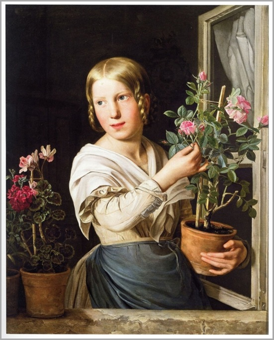 Maiden with Roses- by - ROSALIA AMON_600x745