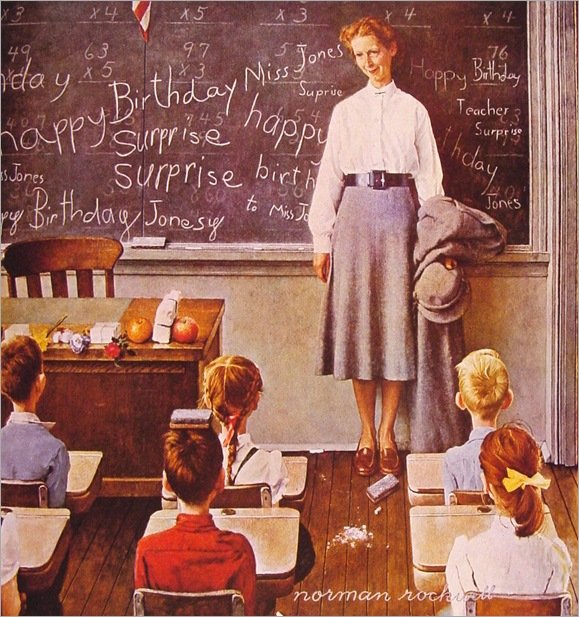 NormanRockwell_teachers_birthday