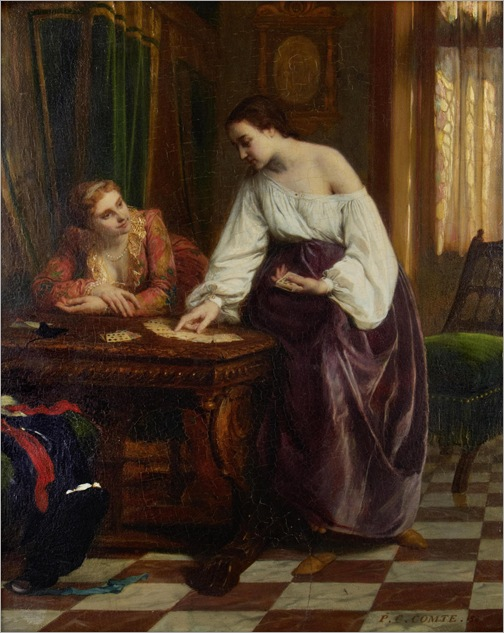 Pierre Charles Comte (1823-1895) - The card reader