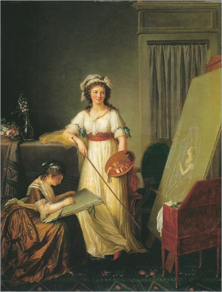The Interior of an Atelier of a Woman Painter (1796). Marie-Victoire Lemoine (French, 1754–1820)