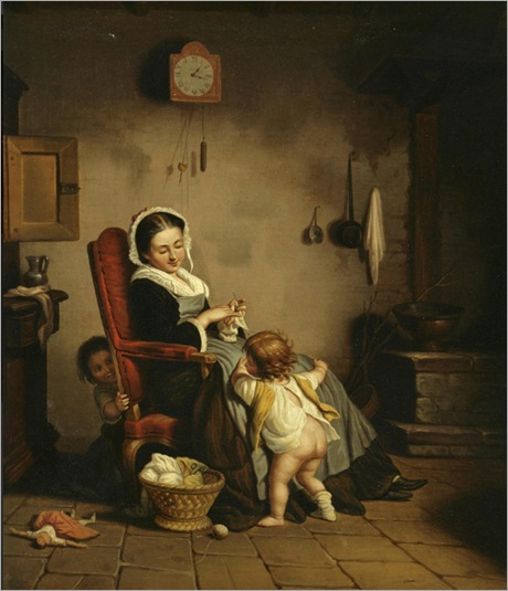 Théophile Emmanuel Duverger_mother-with-children