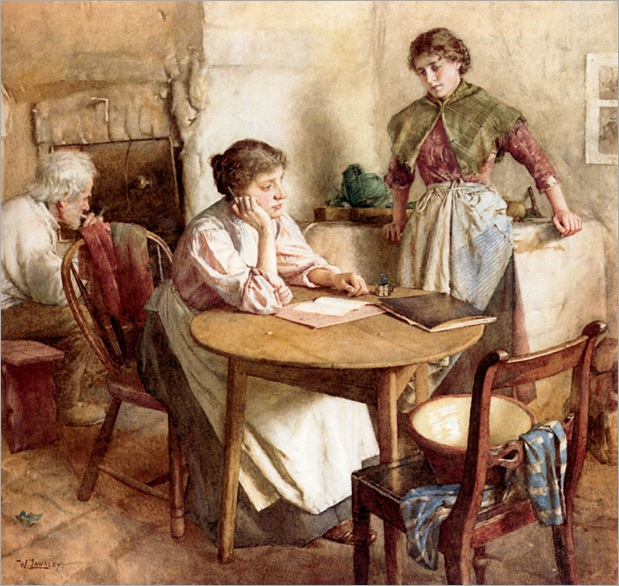 thoughts_far_away-Walter-Langley(1852-1922)