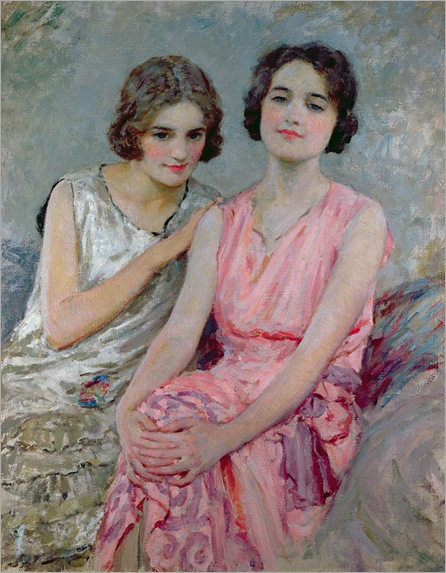 Two Young Women Seated_William Henry Margetson