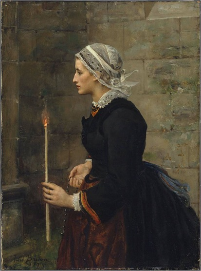 Woman with a Taper - Jules Breton-1873
