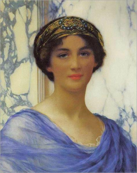 1c William Clarke Wonter (British painter, 1857-1930) Classical Beauty