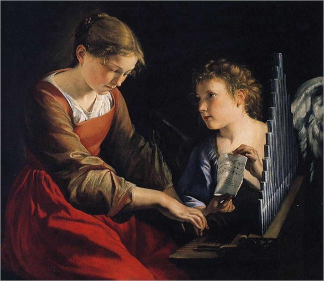 884px-Orazio_Gentileschi_-_Saint_Cecilia_with_an_Angel