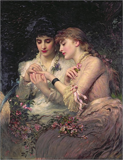 A Thorn Admidst Roses By James Sant (1820 - 1916)