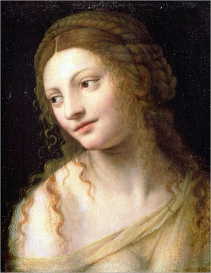 Bernardino Luini (c1480-1532), Head and shoulders of a young woman