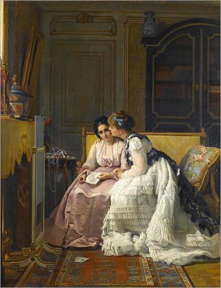 Charles Louis Baugniet (1814-1886) a carta de amor