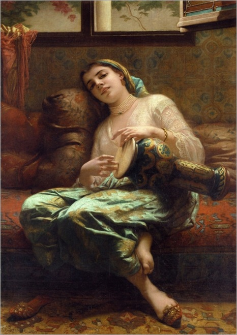 CZLandelle_Woman_Playing_A_Darbouka