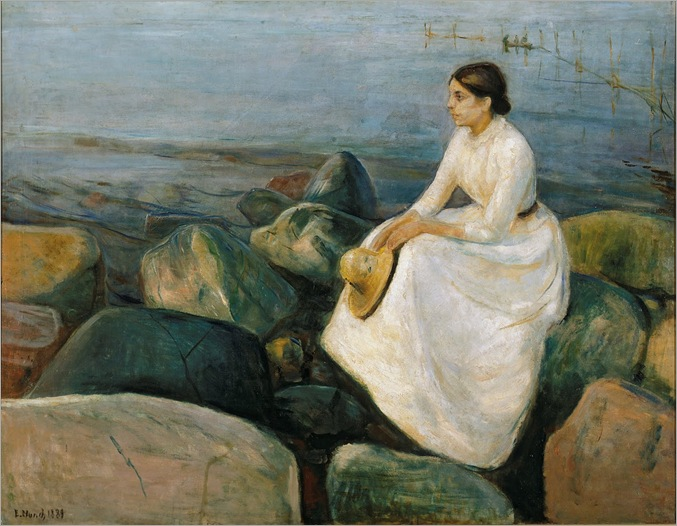 Edward Munch Summer Night. Inger at the Beach, 1889