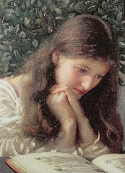 Edward Robert Hughes (185 -1914)-Idle Tears