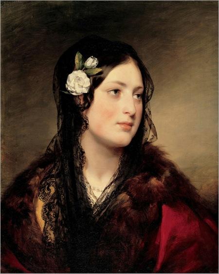 Friedrich von Amerling - Retrato de Eliza Kryutsberger. 1837