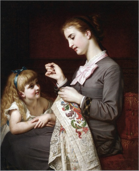 Hughes Merle - The Embroidery Lesson