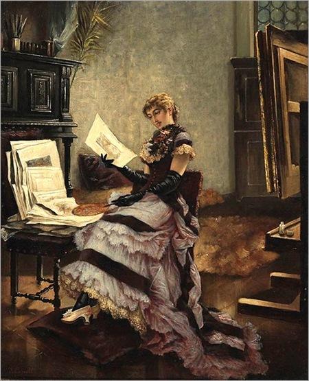 J. CASSELL _ Sara Bernhardt em seu estúdio, 1890