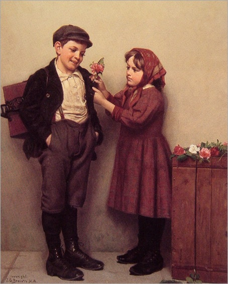 JohnGeorgeBrown_The_button_Hole_Posy