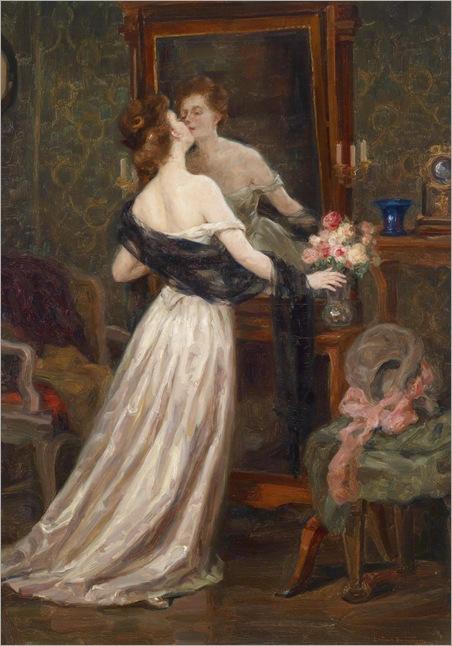Lady in a Boudoir before a Mirror - Luma von Flesch-Brunningen