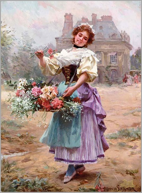 louis-marie-de-schryver_the flower girl