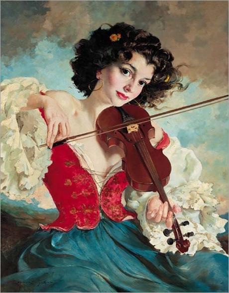Maria Szantho - The gypsy fiddler