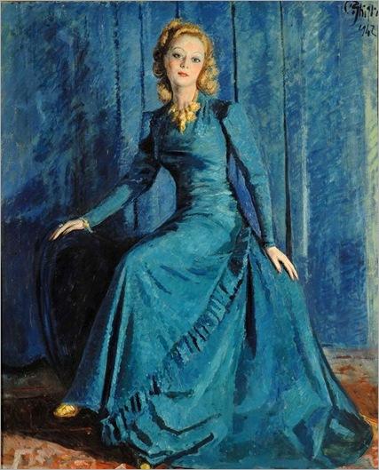 Paolo Ghiglia-signora-in-blu-1942