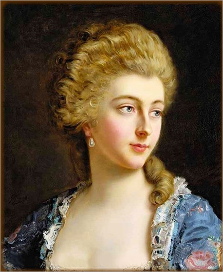 Portrait of an Elegant Lady, Gustave Jean Jacquet. French, (1846-1909)